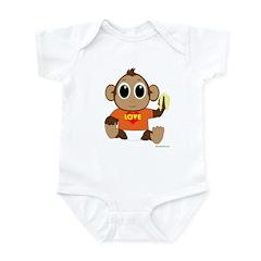 Love Monkey Infant Bodysuit