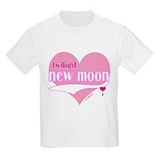 New Moon Pink Hearts T-Shirt
