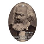 Humor in Politics: Karl Marx Oval Ornament