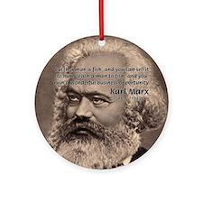 Humor in Politics: Karl Marx Ornament (Round)