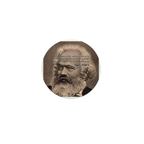 Humor in Politics: Karl Marx Mini Button (10 pack)