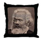 Humor in Politics: Karl Marx Throw Pillow