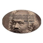 Humor in Politics: Karl Marx Oval Sticker