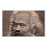 Humor in Politics: Karl Marx Rectangle Sticker