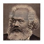Humor in Politics: Karl Marx Tile Coaster