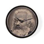 Humor in Politics: Karl Marx Wall Clock