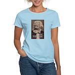 Humor in Politics: Karl Marx Women's Pink T-Shirt