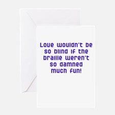 fun with braille Greeting Card