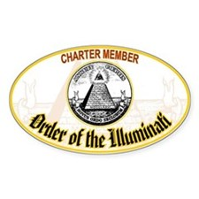Order of the Illuminati Oval Decal