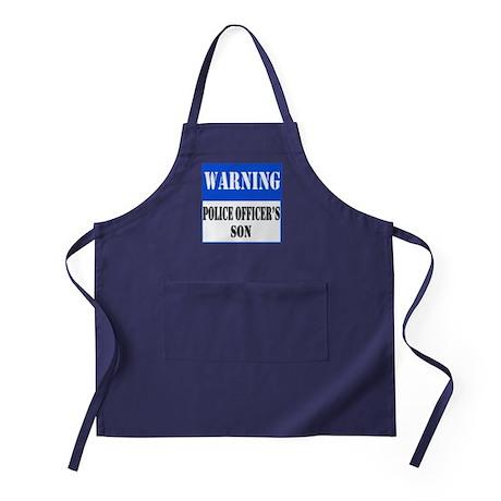 Police Warning-Son Apron (dark)