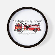 Fire truck kids Wall Clock