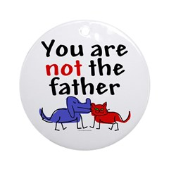 Not father (both) Ornament (Round)