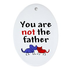 Not father (both) Oval Ornament