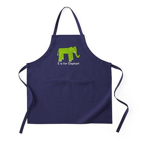 E is for Elephant Apron (dark)