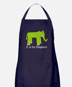 E is for Elephant Apron (dark)