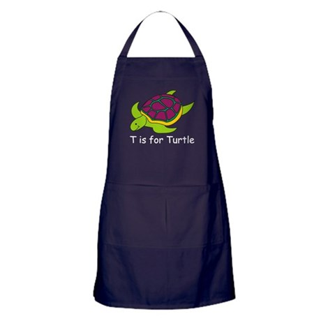 T is for Turtle Apron (dark)