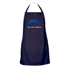 W is for Whale Apron (dark)