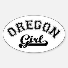 Oregon Girl Oval Decal