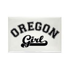 Oregon Girl Rectangle Magnet