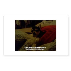 Precious Stuff Dot Biz the dog Rectangle Decal