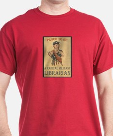 Radical Militant Librarian Black T-Shirt