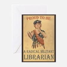Radical Militant Librarian Greeting Cards (Package