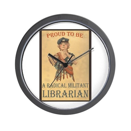 Radical Militant Librarian Wall Clock