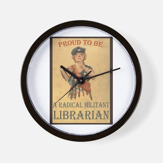 Radical Militant Librarian Wall Clock