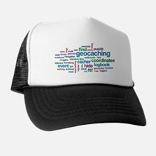 Geocaching Word Cloud Trucker Hat