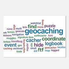 Geocaching Word Cloud Postcards (Package of 8)