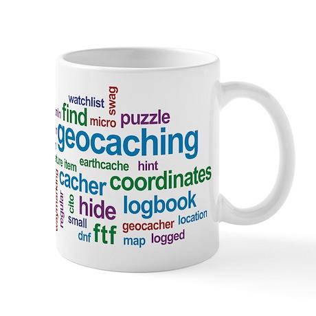 Geocaching Word Cloud Mug