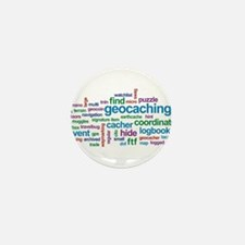 Geocaching Word Cloud Mini Button (100 pack)