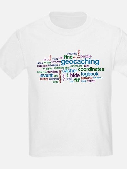 Geocaching Word Cloud T-Shirt