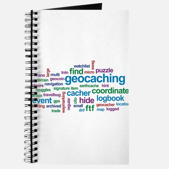 Geocaching Word Cloud Journal