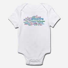 Geocaching Word Cloud Infant Bodysuit