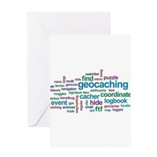 Geocaching Word Cloud Greeting Card