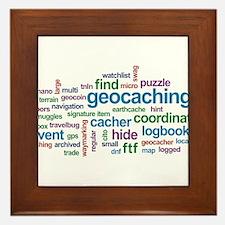 Geocaching Word Cloud Framed Tile