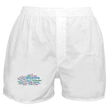 Geocaching Word Cloud Boxer Shorts