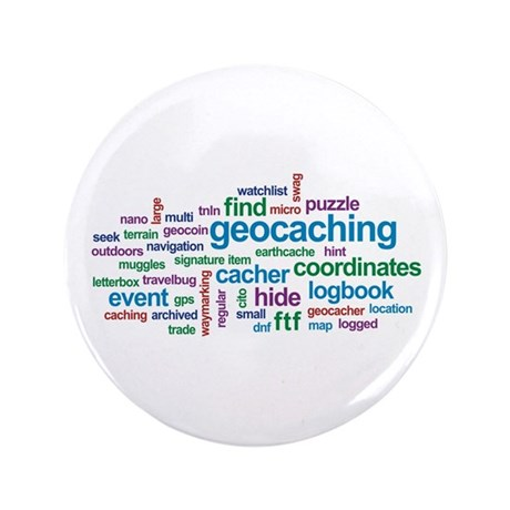 "Geocaching Word Cloud 3.5"" Button"