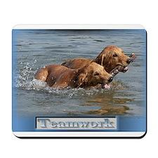 Golden Retriever Teamwork Mousepad