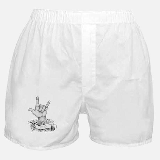 ILY ASL Boxer Shorts