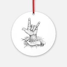 ILY ASL Ornament (Round)