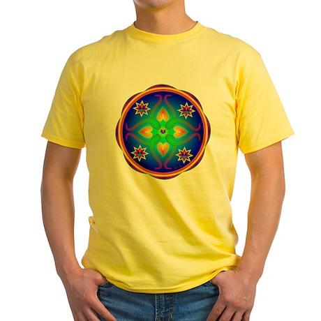 Healing Mandala Yellow T-Shirt
