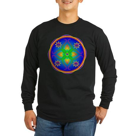 Healing Mandala Long Sleeve Dark T-Shirt