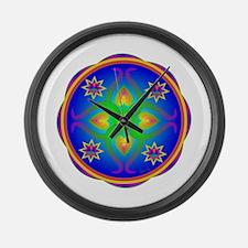 Healing Mandala Large Wall Clock