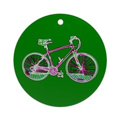 Bicycle Cycling Holidays Christmas Ornament Round