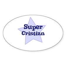 Super Cristian Oval Decal