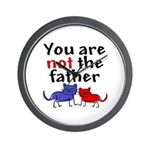 Not father (cats) Wall Clock