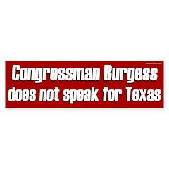 Congressman Burgess bumper sticker