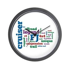 FJ Cruiser word cloud Wall Clock